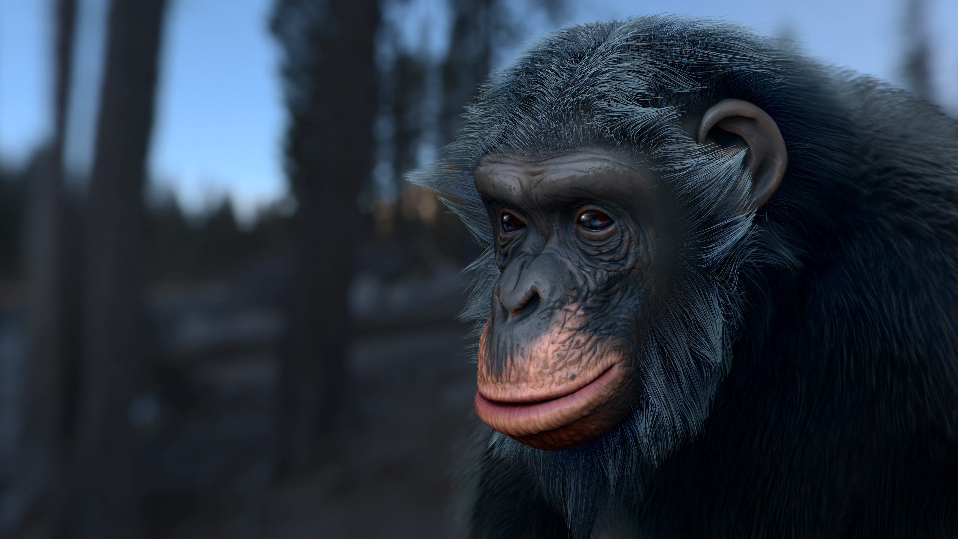 Oleg memukhin monkey head render