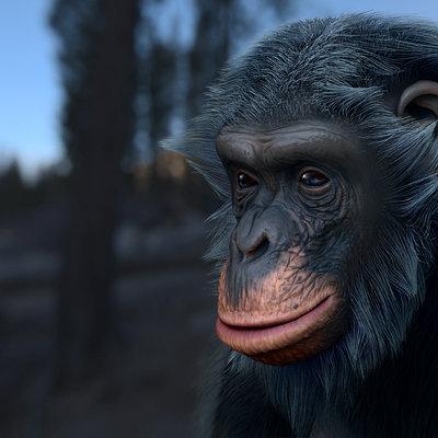 Oleg memukhin monkey head render
