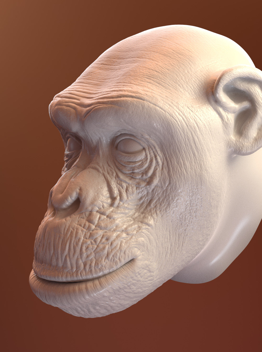 Oleg memukhin monkey head sculpt b