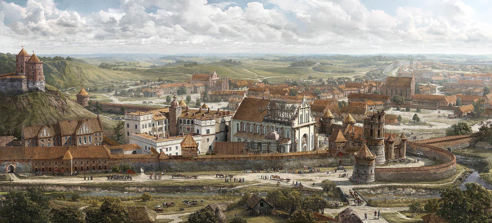Medieval city panorama