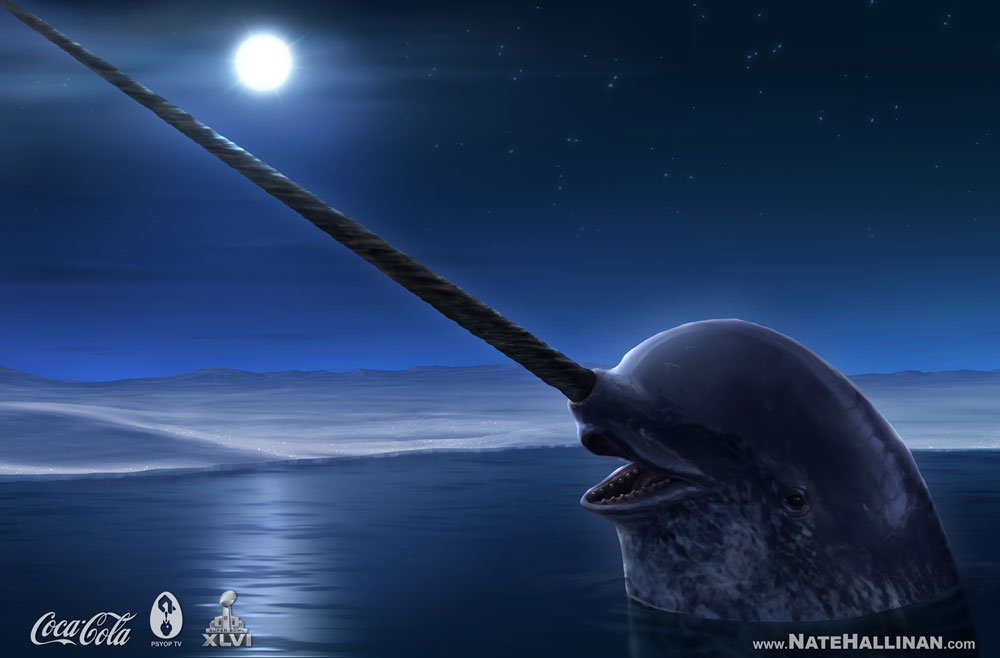 Coca-Cola commercial narwhal concept