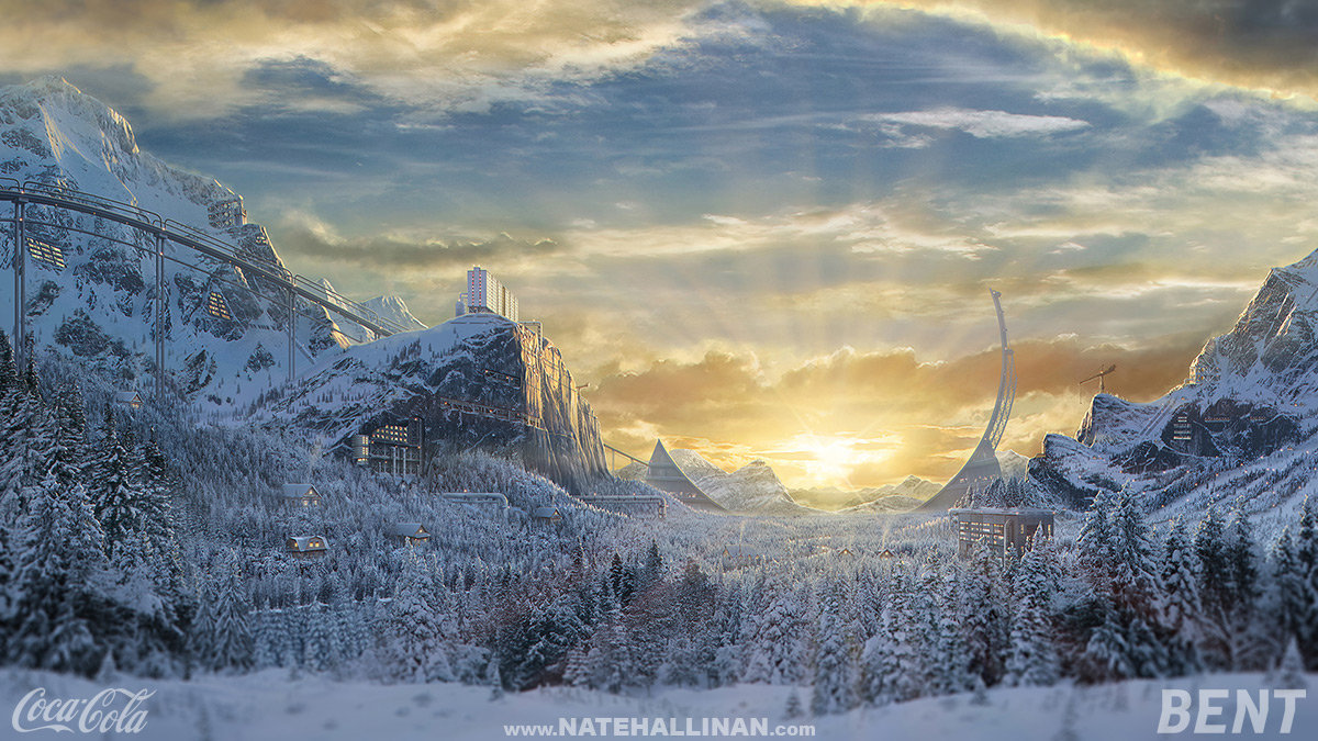 Coca-Cola 2013 Winter Olympics Matte Paintings