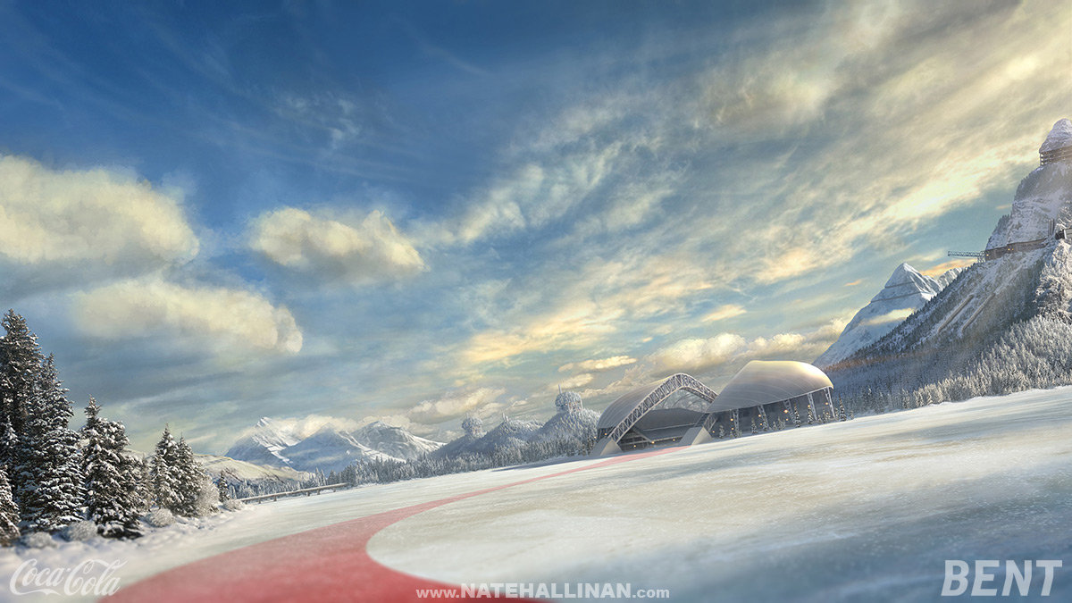 2013 Winter Olympics Coca-Cola - Hockey Matte Painting