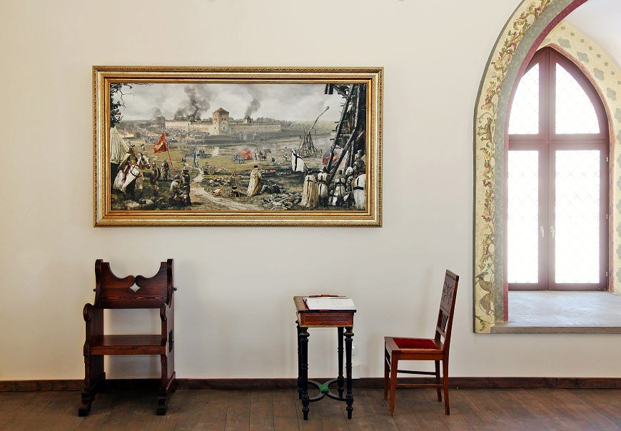 Picture in medininkai castle