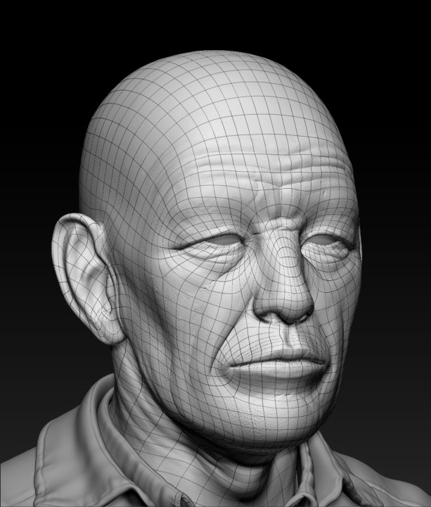 Damon woods old man wireframe
