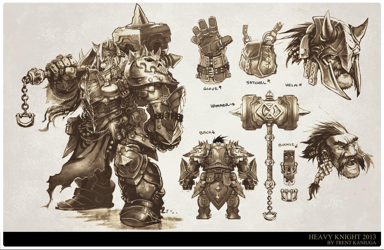 Character Design Concept Art Pdf : Artstation rodin heavy knight concept art trent kaniuga