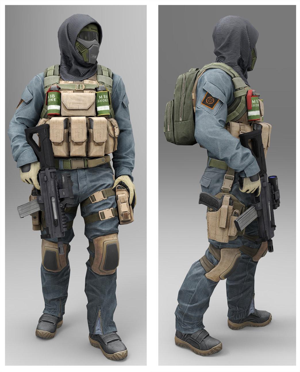 Artstation Masked Soldier Low Poly Model Georgi Georgiev