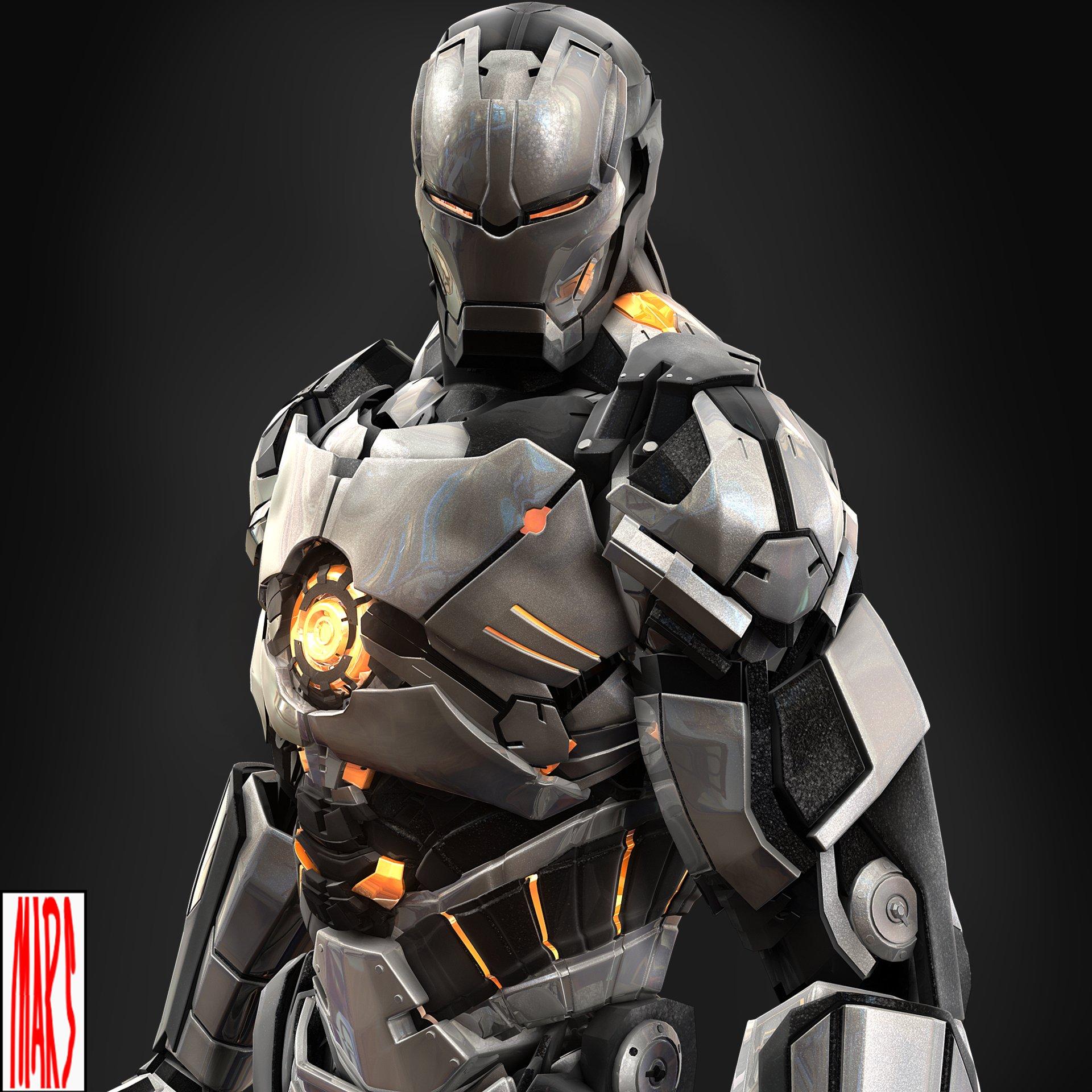 Artstation Iron Man Mark 101 Mars