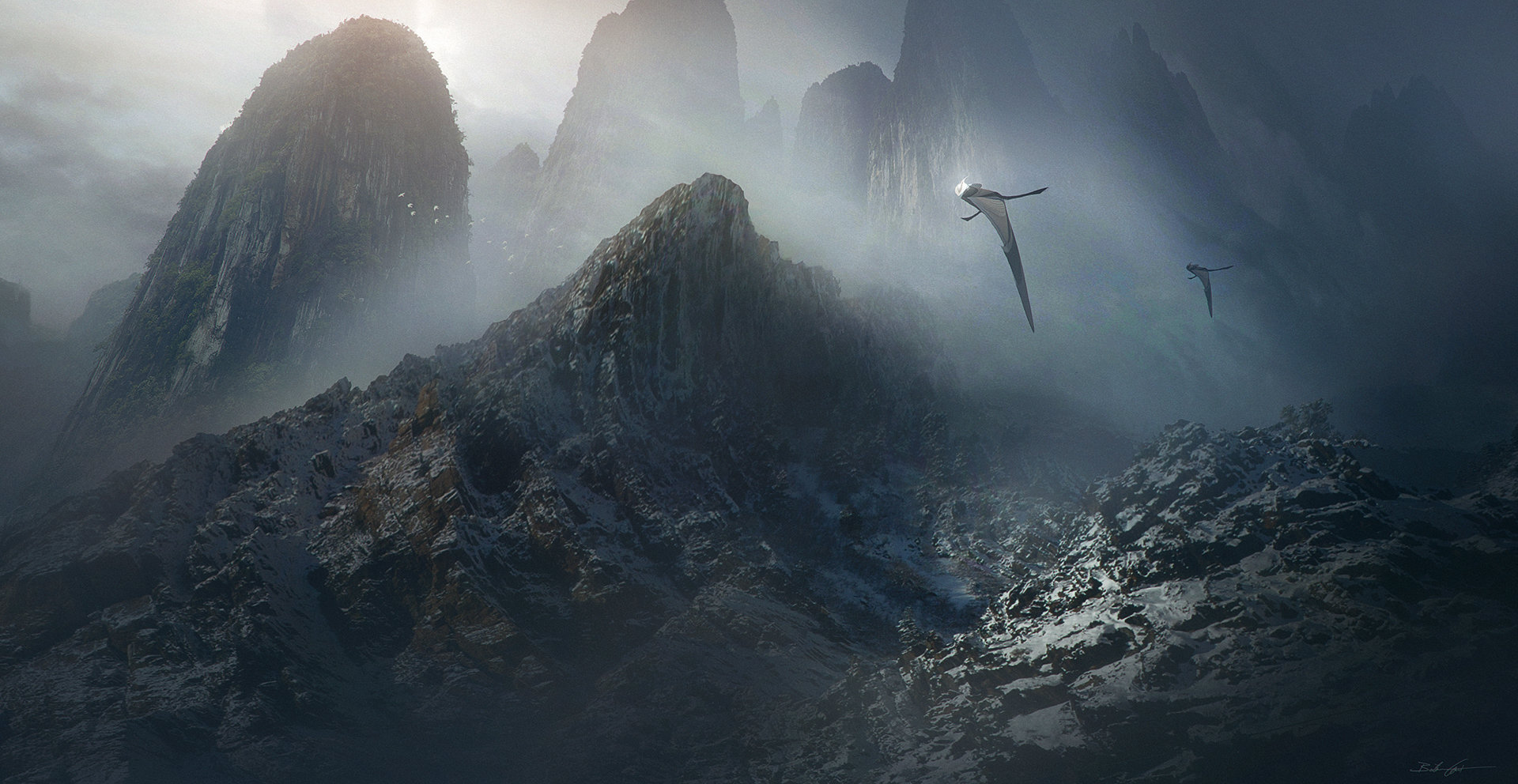 Bastien grivet wild exploration hd matte painting