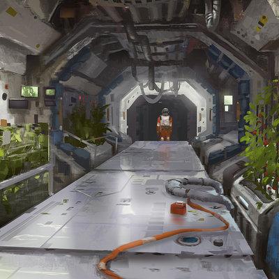 Adrien girod space station corridor 01