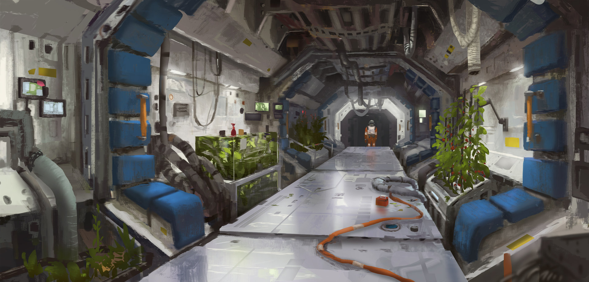 Adrien girod space station corridor 01