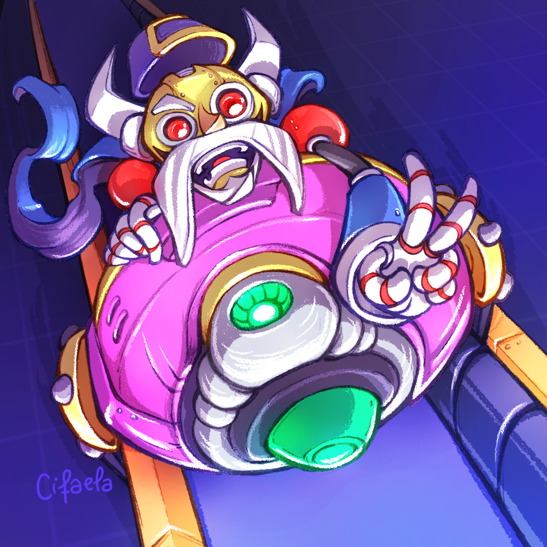 Serges piloting his enormous machine