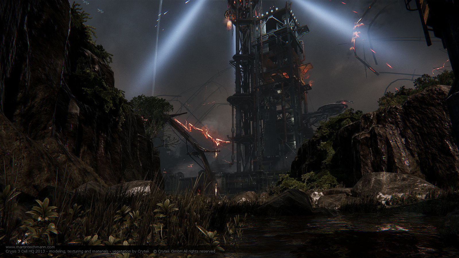 Crysis 3 Cell HQ - Red Star Rising Exterior 01
