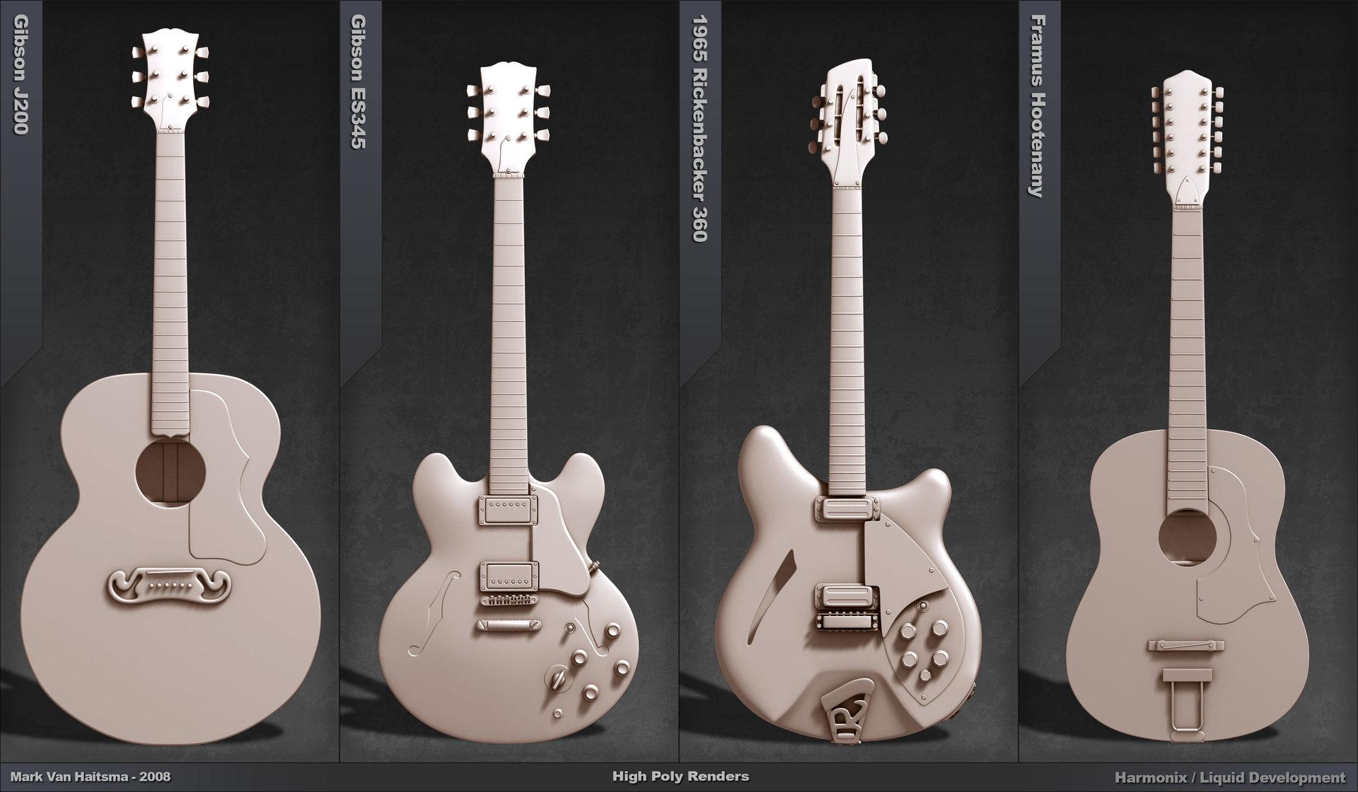 Mark van haitsma guitar portfolio page 4 models