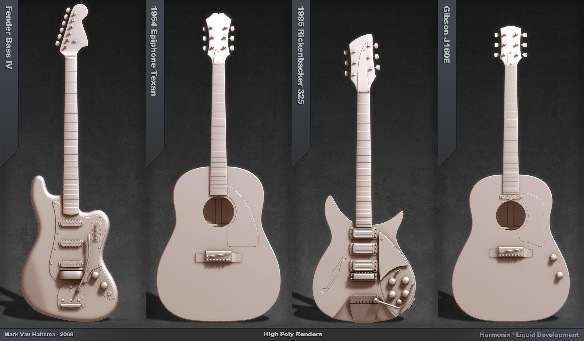 Mark van haitsma guitar portfolio page 2 models