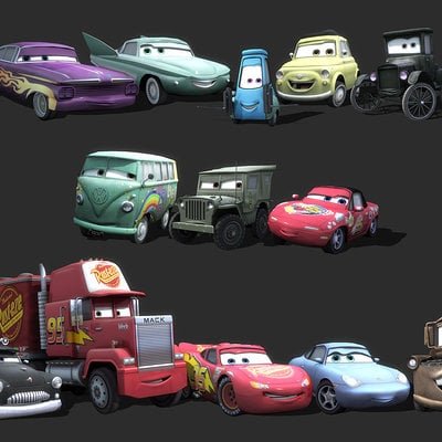 Mark van haitsma cars character collage 1