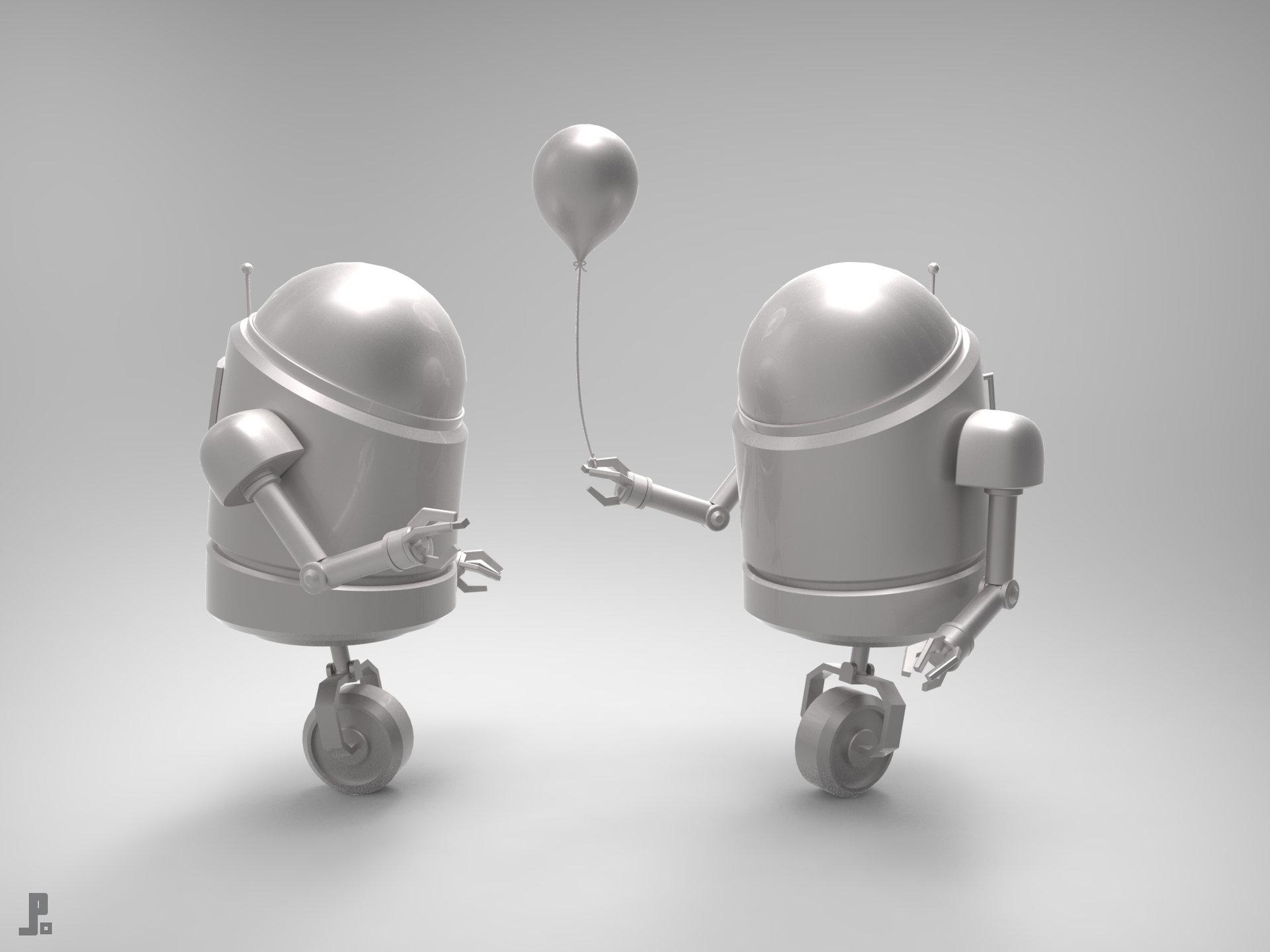 Jarlan perez minibots balloons grey