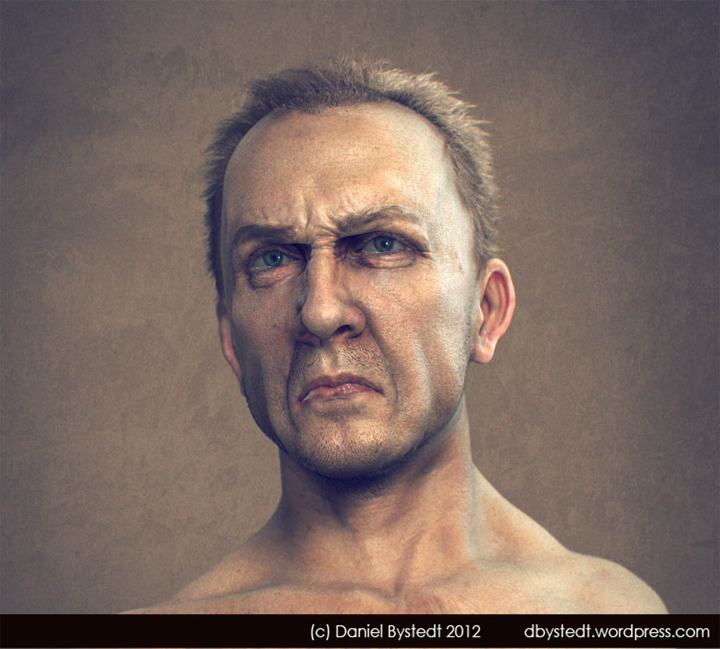 Daniel bystedt angry man front render