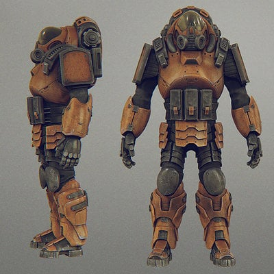 Daniel bystedt mech suit multiple views