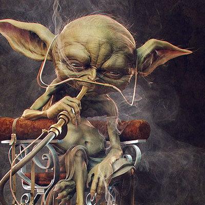 Daniel bystedt yoda smoking render 2