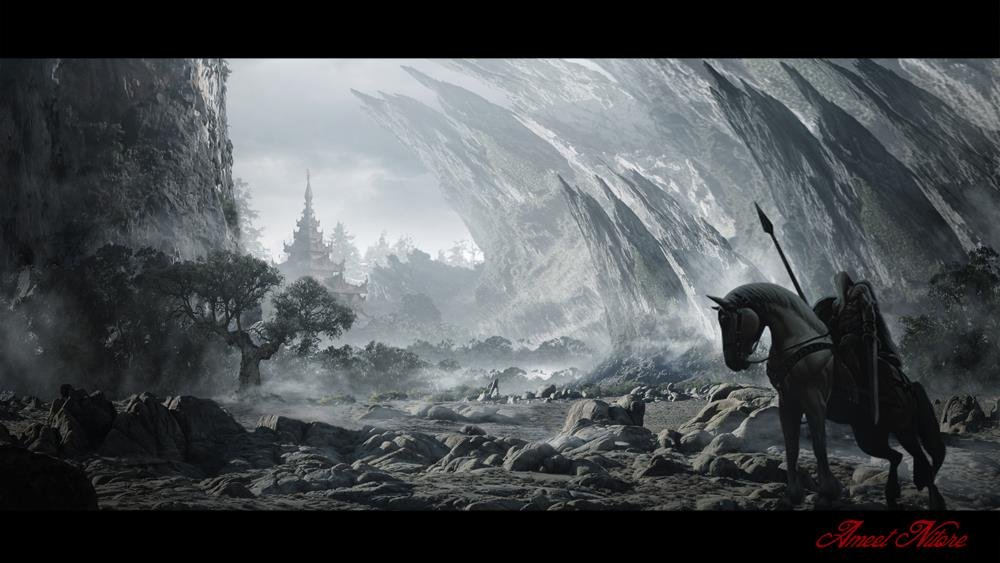 ArtStation - The Dark Land Another Area....., Amit Nitore