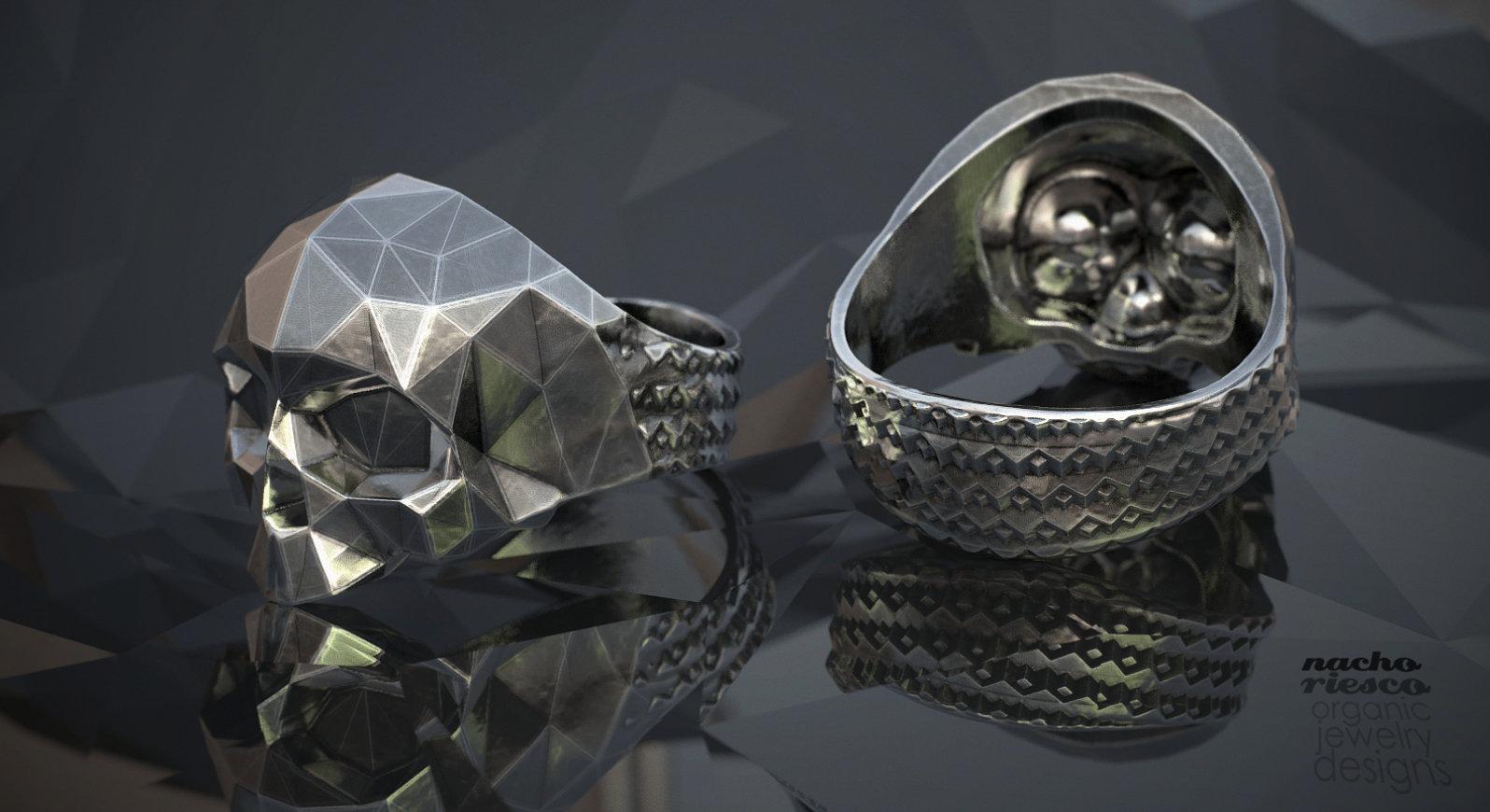 Nacho riesco gostanza polygonal skull ring bynachoriesco ksr