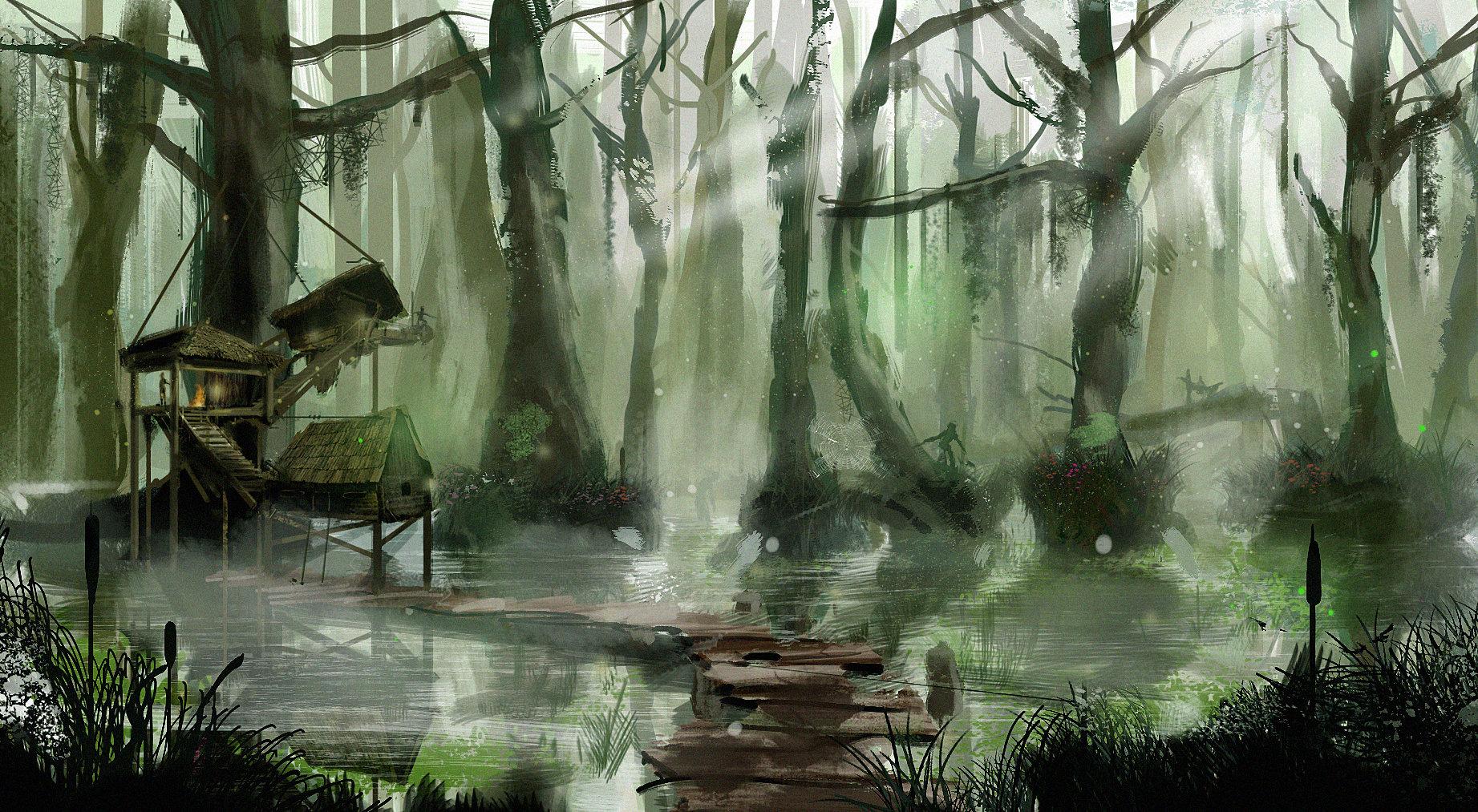 Piotr melentowicz swamp hut flat
