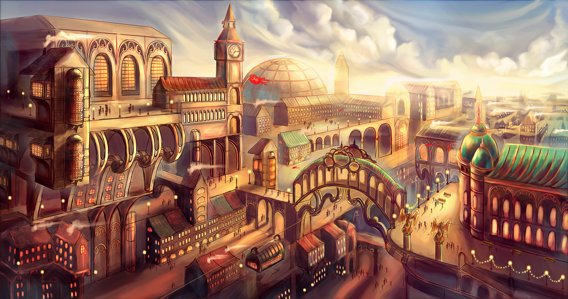 steampunk city names - HD 1900×1000