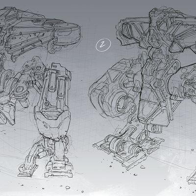 Michal kus titan mech sketches