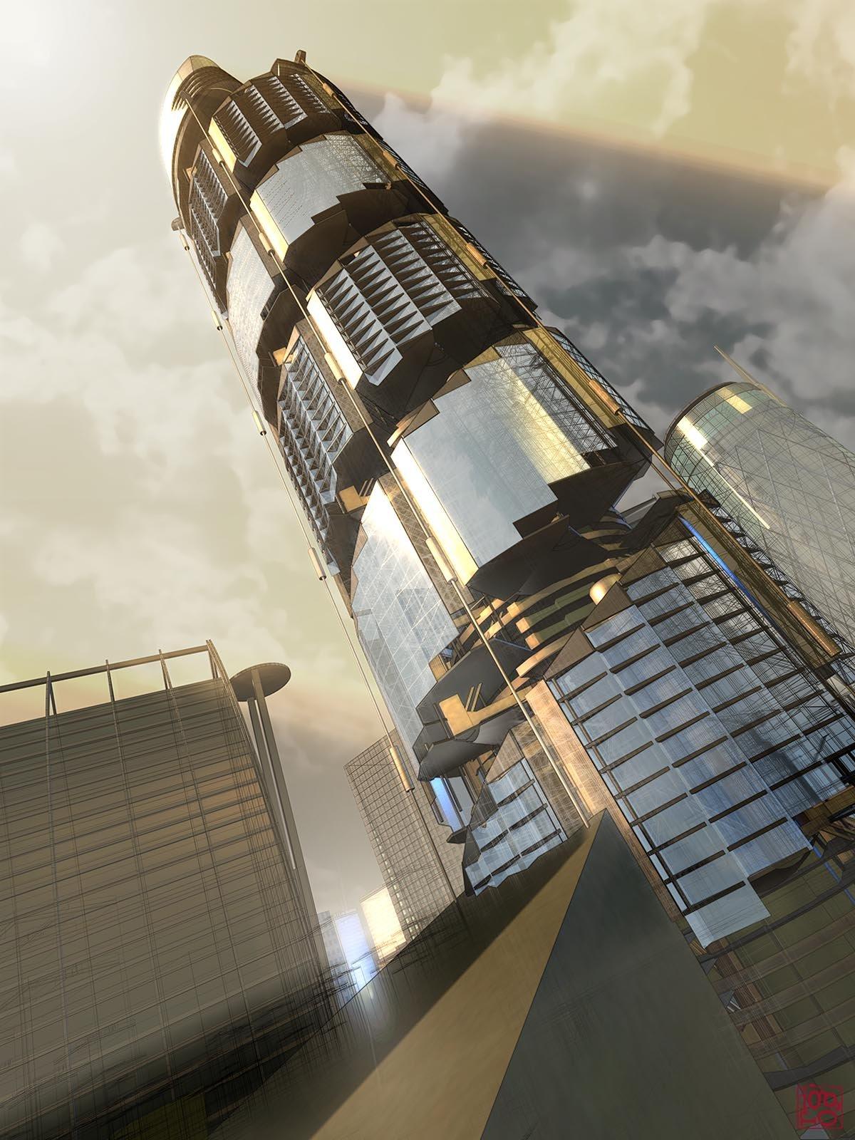 Vertical Village Highrise concept