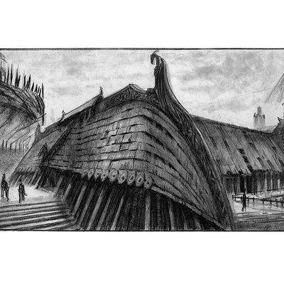 Ray lederer longhouse jorrvaskr boat shape