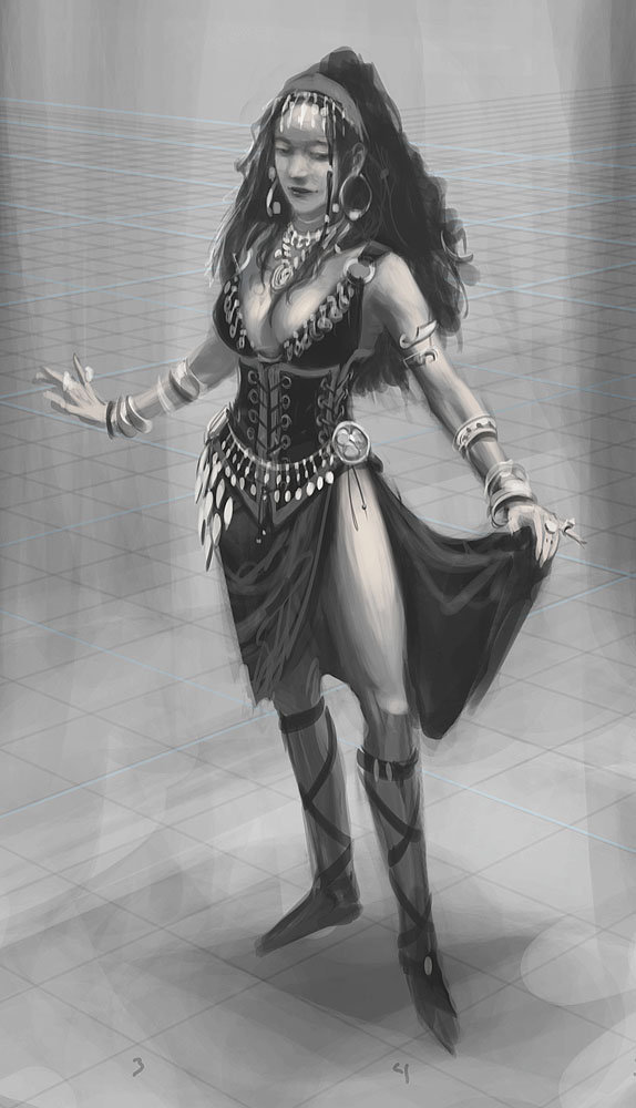 Ray lederer wench dancer wip