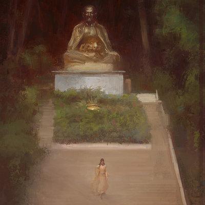 Olly lawson buddhist steps2