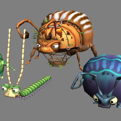 Lloyd chidgzey insect characters