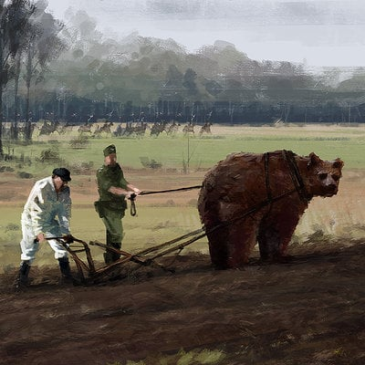 Jakub rozalski 1920 helping hand small