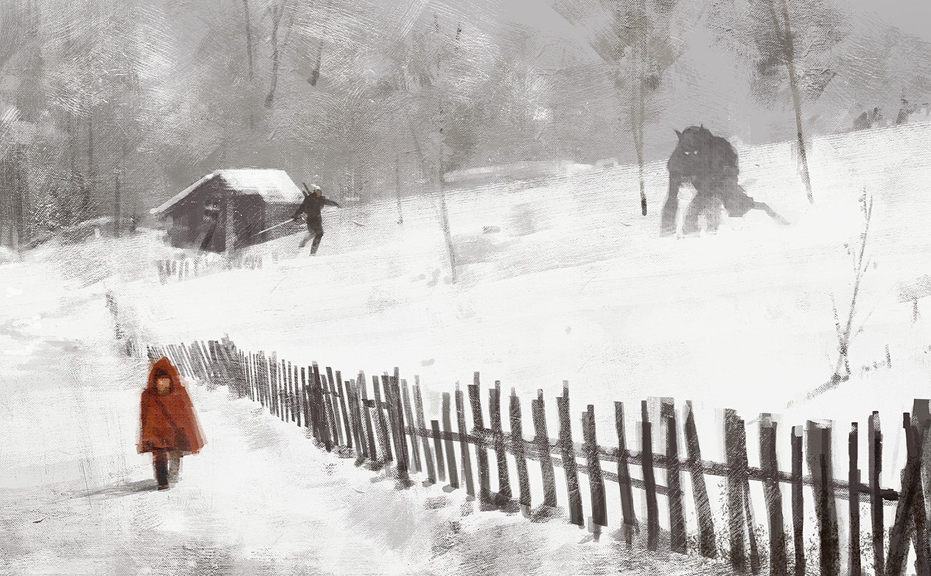 Jakub rozalski bad wolf small
