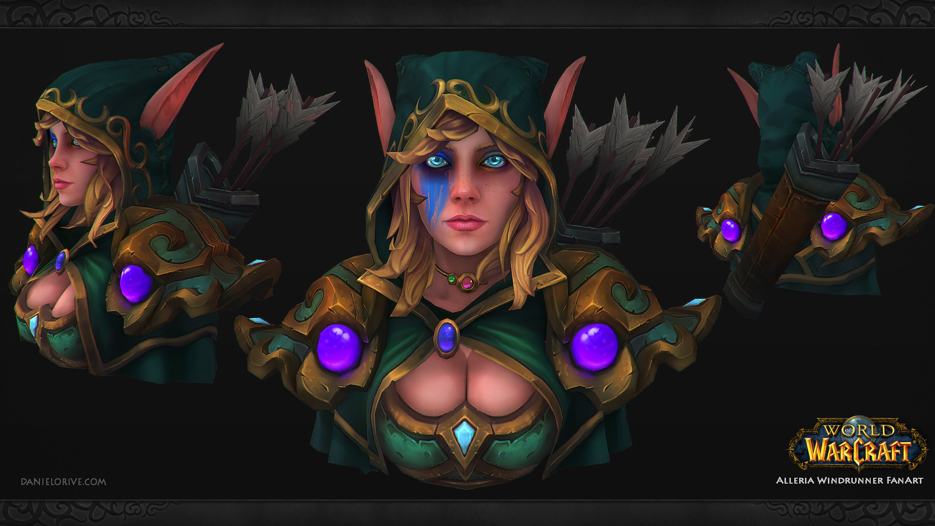 World of Warcraft Fan Art - Alleria Windrunner