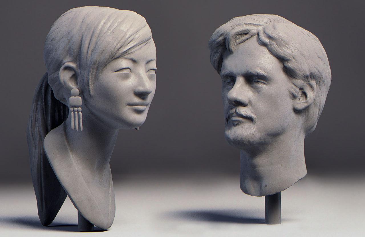 Trojan Horse was a Unicorn workshop livesculpt during talks,Yangtian Li and Mathias Verhasselt