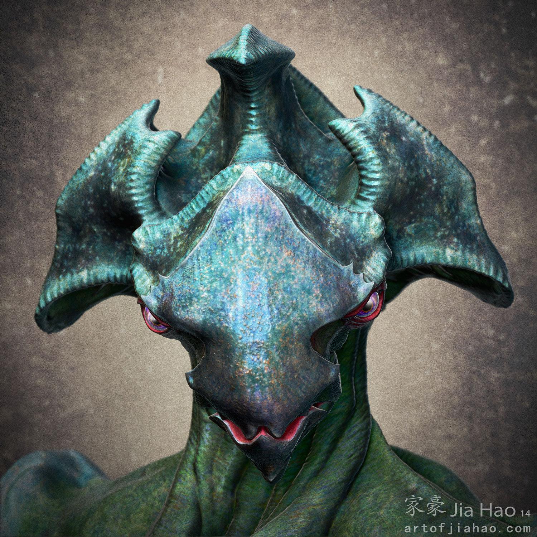Jia hao 2014 04 alien bust 1 comp