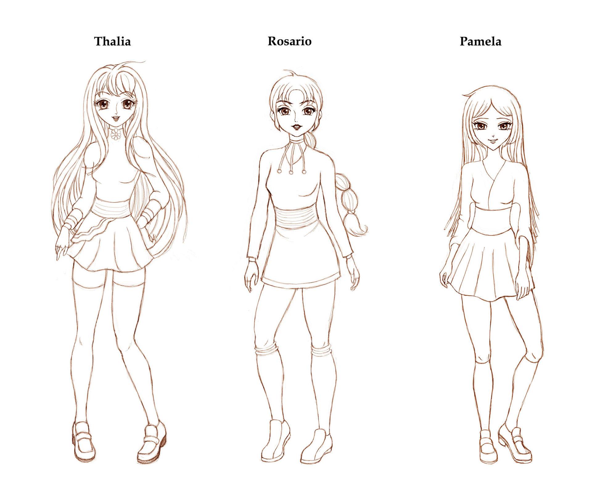 Patricia vasquez de velasco 3 personajes disenos previos 001