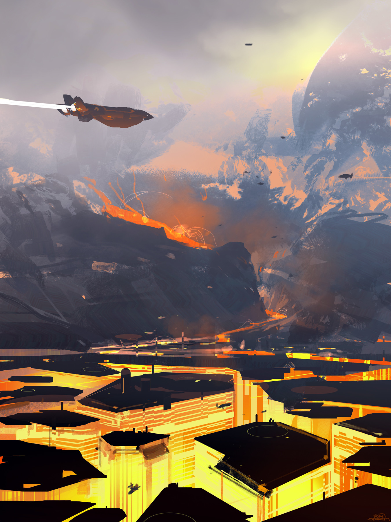 Sparth nicolas bouvier sparth volcano city flat small