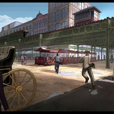 Chicago 1893 - Street Chase