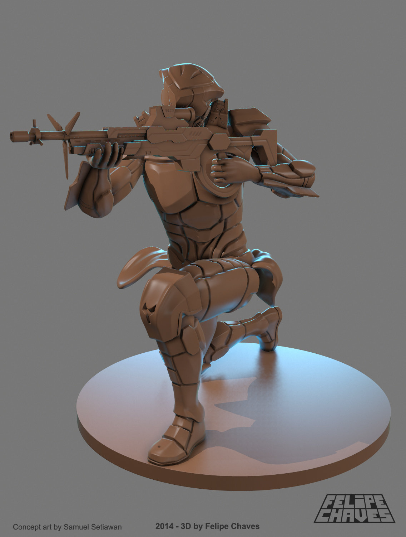 Sniper - Board Game Miniature