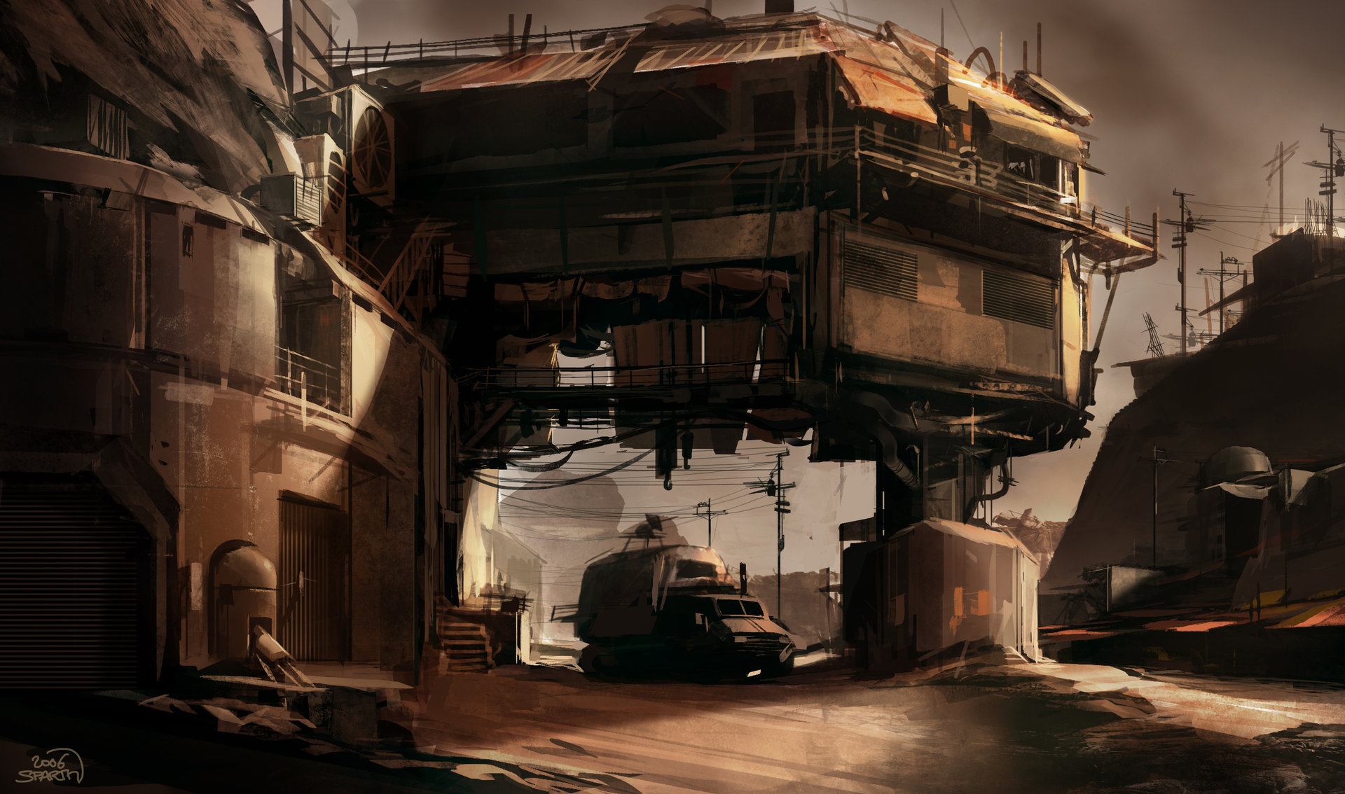 Sparth   rage   bridge bunker structure