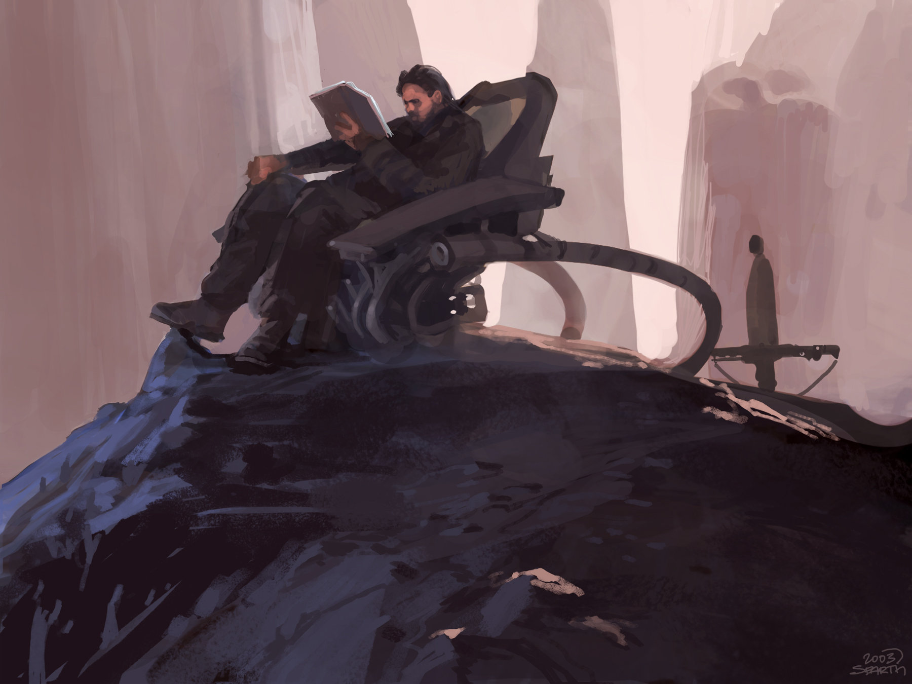 Sparth man seated
