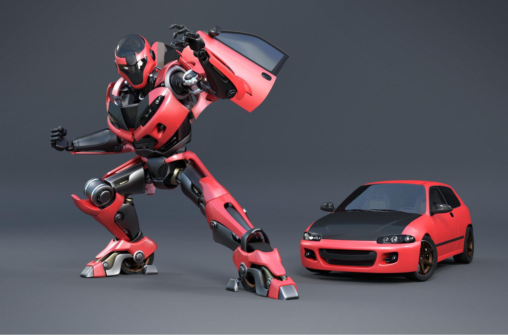Artstation Honda Civic Estilo Transformer Andry Viyono