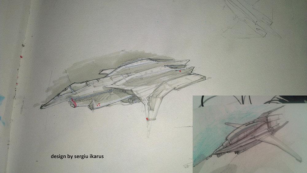 Ikarus sketches