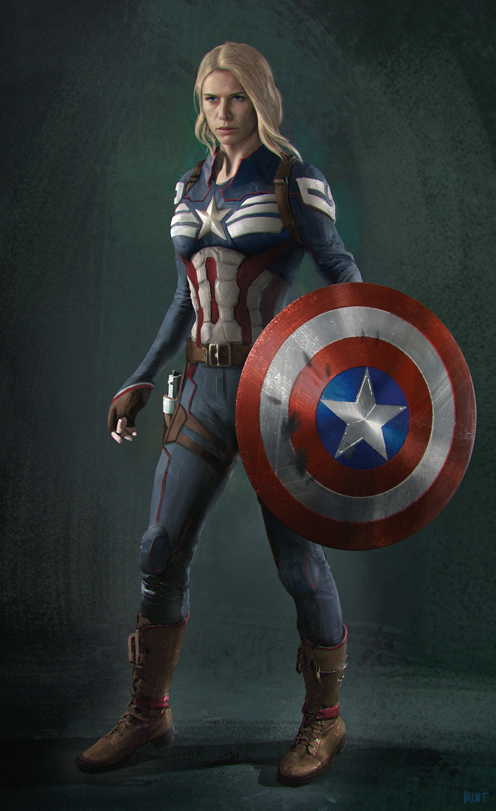 Captain America character design sheet