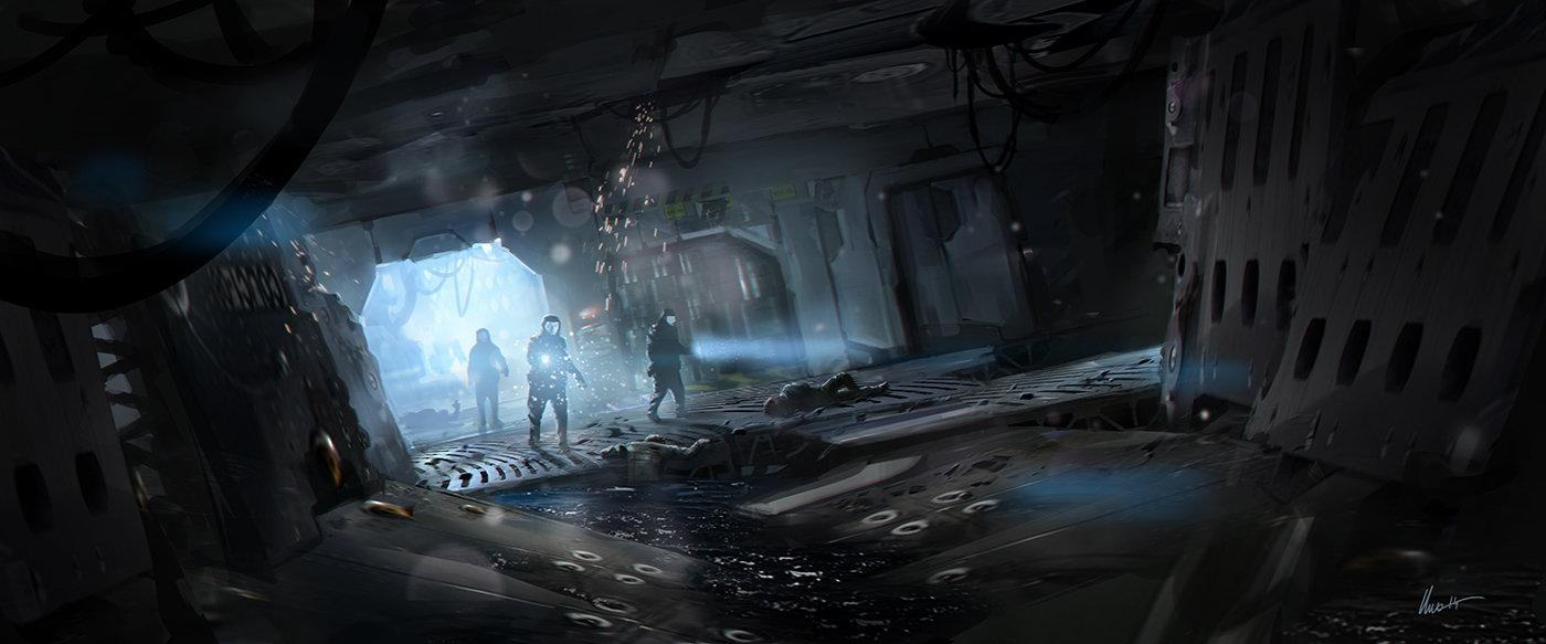 127   damaged ship interior
