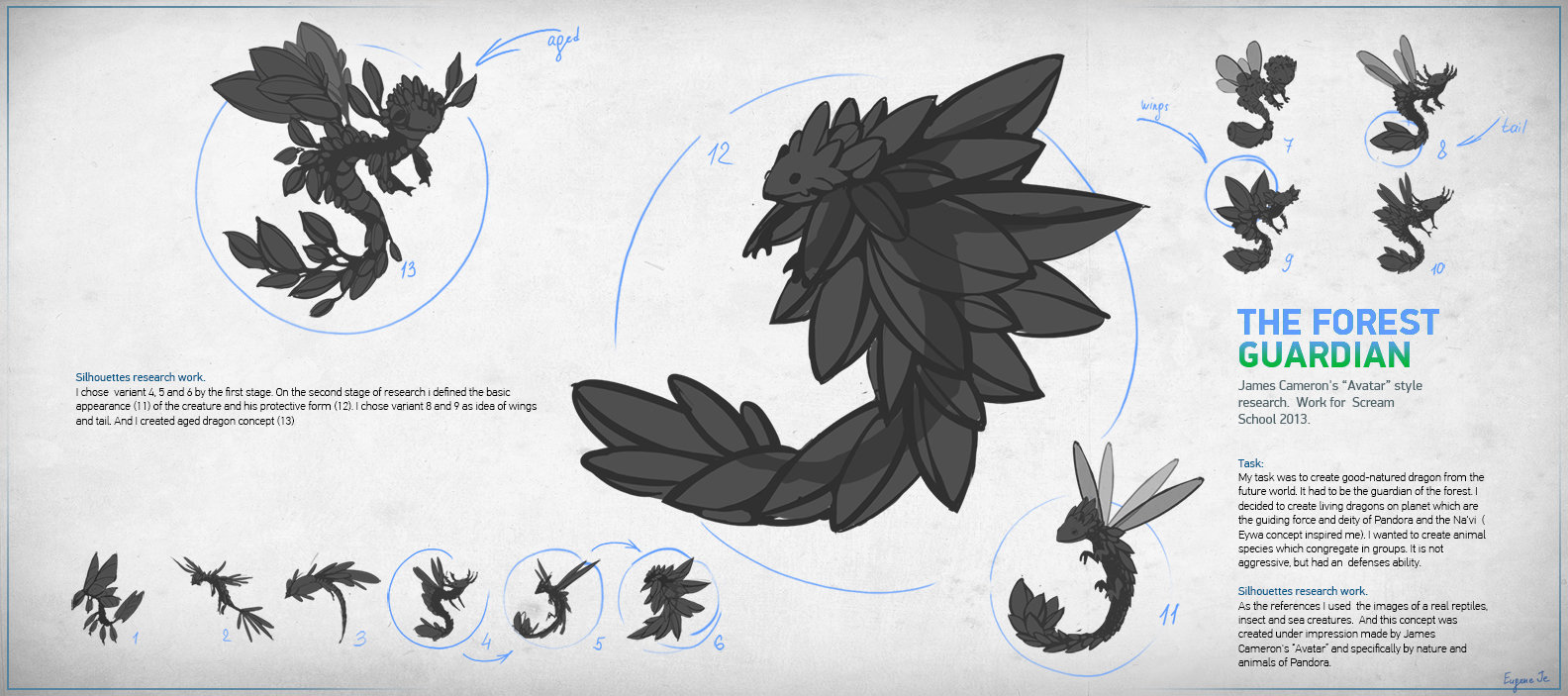 the forest guardian silhouettes research work  the forest guardian silhouettes research work eugene je